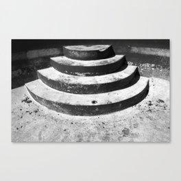 Empty Pool Steps Canvas Print