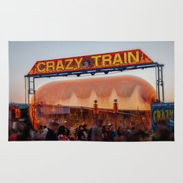 All Aboard the Crazy Train carnival ride Rug