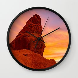 Balanced Rock Sunrise - Valley of Fire Wall Clock