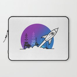 Rocket Blast Off to Space Laptop Sleeve