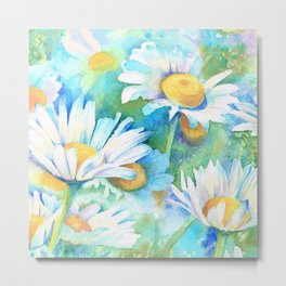 Happy Daisies Metal Print
