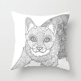 Color Me! Kitty Throw Pillow