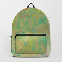 Faded Greens and Turquoise Abstract Backpack