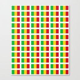 Flag of mali -mali,malien,malienne,malian,bamako,tombouctou,timbuktu,sikasso,mopti,mande Canvas Print