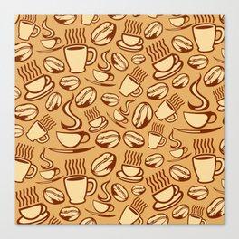coffee background Canvas Print