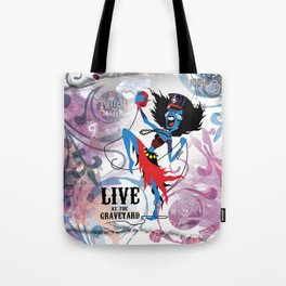Merideath - Lead Vocals. The Twitch Doctors Tote Bag