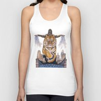 cincinnati Tank Tops featuring Cincinnati Bengal Tiger by The Groundbird