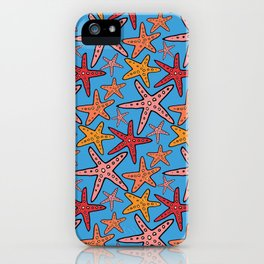 starfish pattern iPhone Case