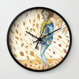A Gust of Wind Wall Clock