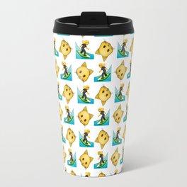 Surf kitten emojis-Summer logo Travel Mug