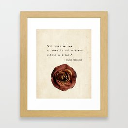 All that we see or seem is but a dream within a dream Framed Art Print
