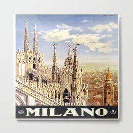 Vintage poster - Milano Metal Print