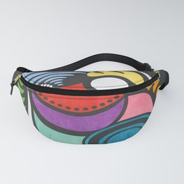 Rad Rooster - Colorful Abstract Geometric Watercolor Fanny Pack