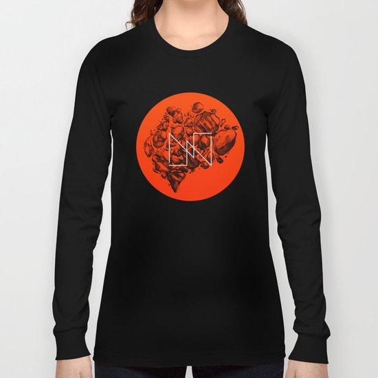 Old School Rocks (Orange Rock Version) Long Sleeve T-shirt