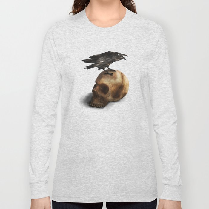 Raven and Skull Long Sleeve T-shirt