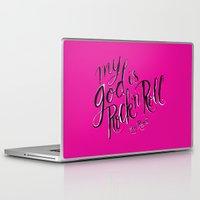 lou reed Laptop & iPad Skins featuring RIP Lou Reed by Chris Piascik