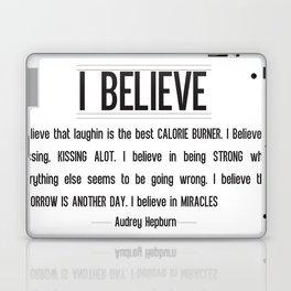 I BELIEVE - Audrey Hepburn Laptop & iPad Skin