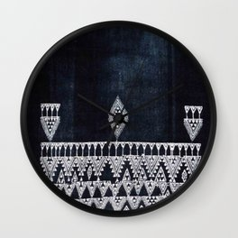 Arteresting V48 - Indigo Anthropologie Bohemien Traditional Moroccan Design Wall Clock