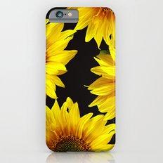 Large Sunflowers on a black background - #Society6 #buyart iPhone 6s Slim Case