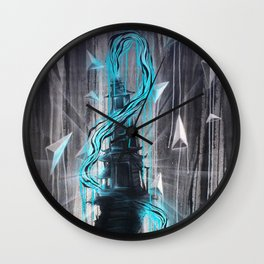 Blue Zen Temple Royal Stain Wall Clock
