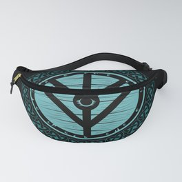 Viking Shield Maiden Norse Knot Work & Teal Shield Fanny Pack