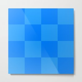 Blue 2 Tone Pattern Metal Print