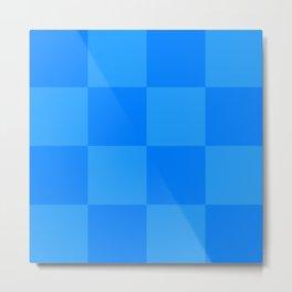 Blue 2 Tone Pattern Metal Print