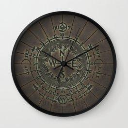 Faux Antique Bronze Compass Design Wall Clock