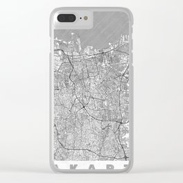 Jakarta Map Line Clear iPhone Case