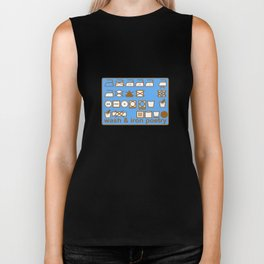 WASH AND IRON POETRY- LAUNDRY SYMBOLS Biker Tank