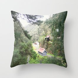 Restored Train Depot Throw Pillow