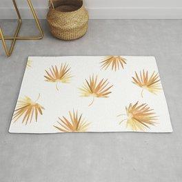 Golden Palm Leaf Rug