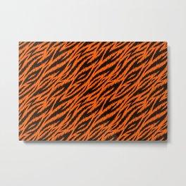 Tiger stripes pattern. Vector illustration background  Metal Print