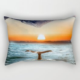 A whale and a morning Rectangular Pillow