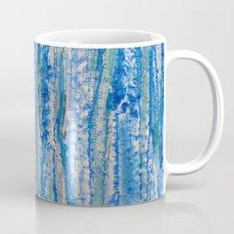 Encaustic Streaks (blue) Coffee Mug