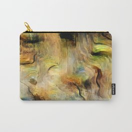 Abstract Bark Carry-All Pouch