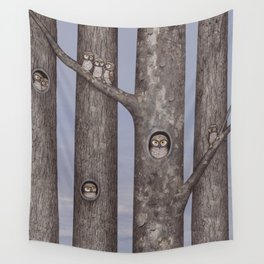 owls in trees Wall Tapestry