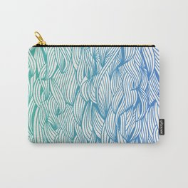Ombré Waves Carry-All Pouch