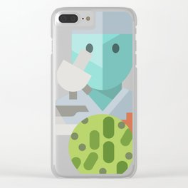 Bacteriologist Icon Clear iPhone Case