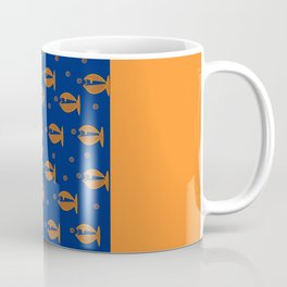 Little Fishes in a Blue Ocean Coffee Mug