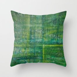 Old schoolboard -XL canvas in concep Throw Pillow