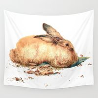 bunny Wall Tapestries featuring Bunny by Ivanka Costru