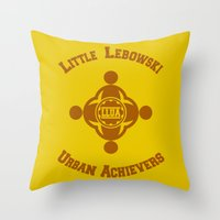 lebowski Throw Pillows featuring Little Lebowski Urban Achievers  |  The Big Lebowski by Silvio Ledbetter