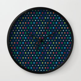 Color Polka Wall Clock