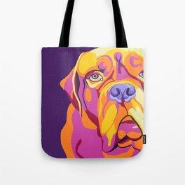 Psychedelic Pup- Bull Mastiff Pet Portrait Tote Bag