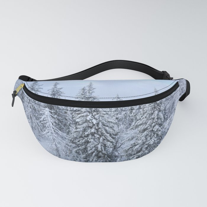 Snowy forest at the White Mountain Fanny Pack