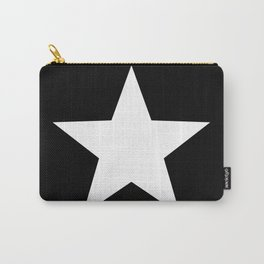 Black Background - White Star Carry-All Pouch