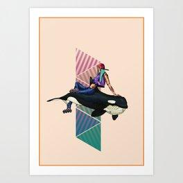 Whale Sk8r Art Print