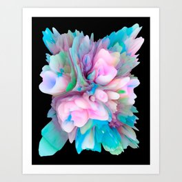 Your World 1 - Abstract 3D Milk Painting Art Print