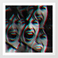 psycho Art Prints featuring PSYCHO by Inception of The Matrix